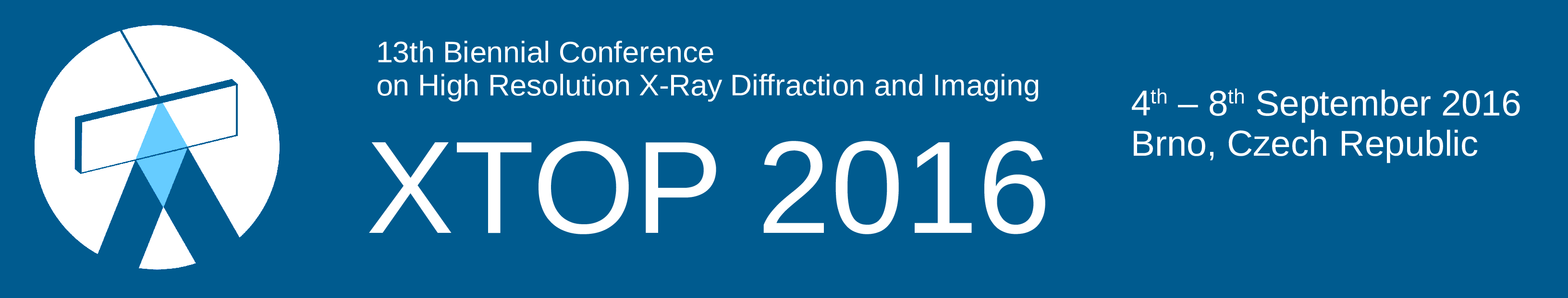 13th Biennial Conference on High Resolution X-Ray Diffraction and Imaging